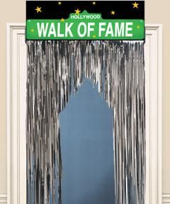 Walk of Fame Entryway Sparkle Curtain